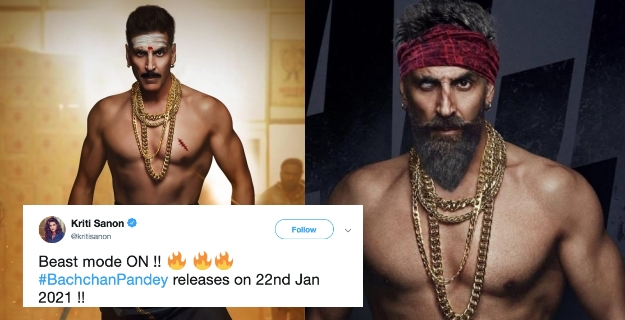 Akshay shares his Fiery New Look in his upcoming Movie 'Bachchan Pandey', Twitter Applauds