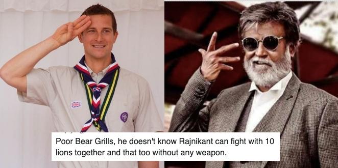 Bear Grylls will do 'Man Vs Wild' Episode with Rajinikanth, Twitter Flooded with Latest Jokes