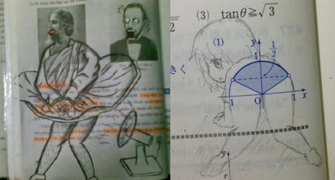 These 20 Crazy Textbook Doodles will Blow Your Mind