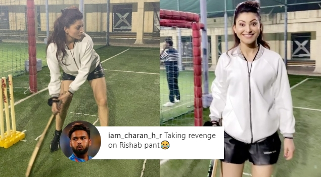 Urvashi caught Playing Cricket, Netizens take Sarcastic Dig in Connection with Rishabh Pant