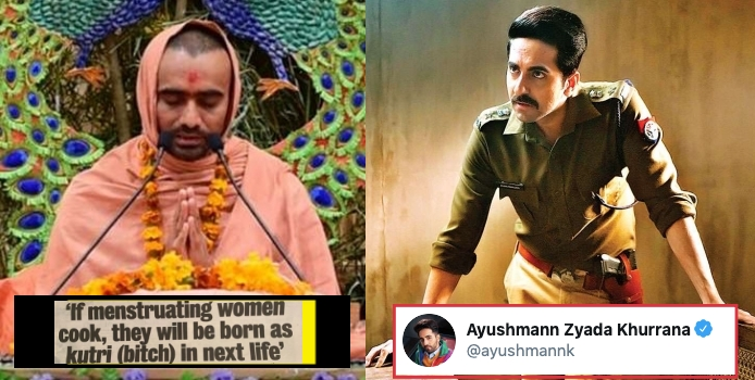Ayushmann Gave a Kickass reply to Self-styled Godman for His Dirty Statement on Women's Period