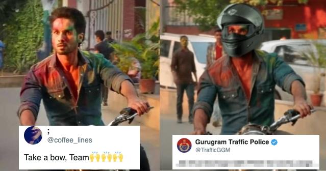 Internet applauds the Wittiness of Gurugram Traffic Police for Using Kabir Singh Meme