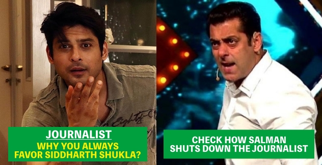 Salman Khan gets Angry When Journalist accuses him of Favoring Siddharth Every time