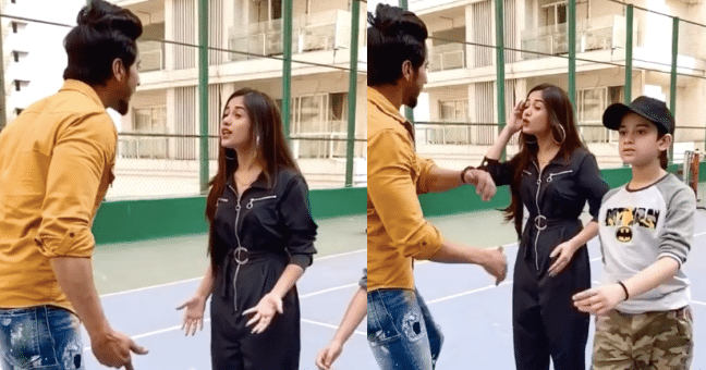 See What Happened Next,  When TikTok Star Faisal Tries to Slap Jannat Zubair on a Live Video