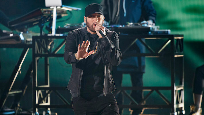 Eminem brings the house down with Oscars performance