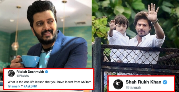 Shahrukh gives Hilarious Reply to Riteish on Being Asked about lesson He learnt from Abram