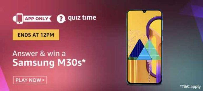 Amazon Quiz M30s Answers