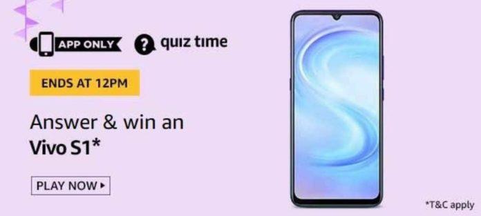 Amazon-Quiz-july-08 Vivo S1