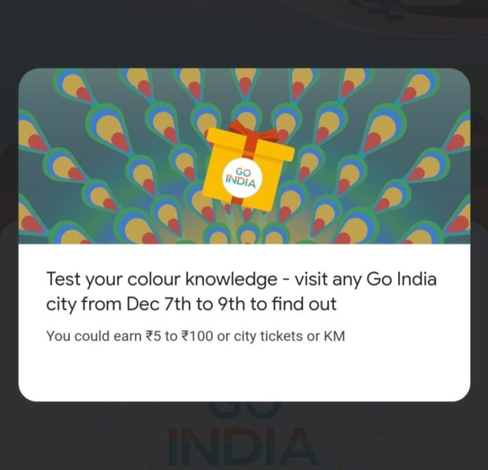 Go India Game Colour Answers